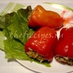 Перец фаршированный мясом и рисом, рецепт с фото