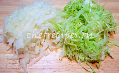 Легкий салат из кольраби