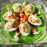Яйца, фаршированные кукурузой