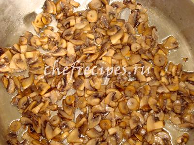 Блинчики с грибами и капустой
