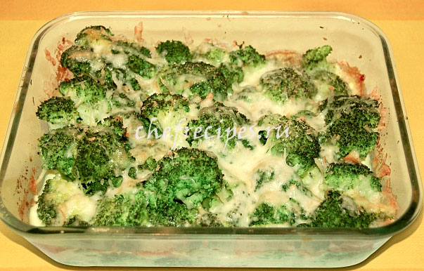 Брокколи с рыбой в духовке рецепт с пошаговый рецепт