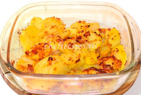 Запеченный картофель в пиве
