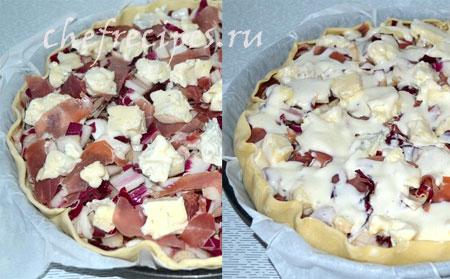 Пирог с горгонзолой