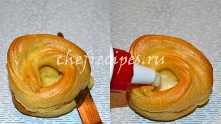 Пончики из заварного теста