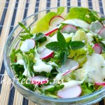Салат из рукколы и редиса