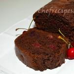 Пирог с вишней и какао