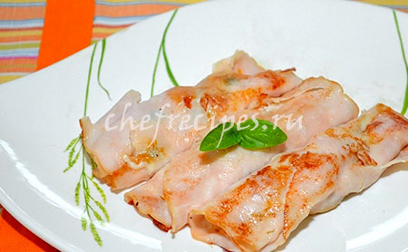 Филе индейки с овощами и сыром