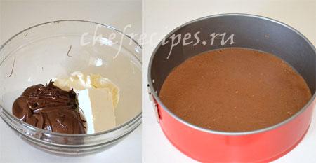 Шоколадный чизкейк с нутеллой