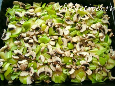 перец и грибы