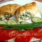 фаршированная куриная грудка сыром и зеленью