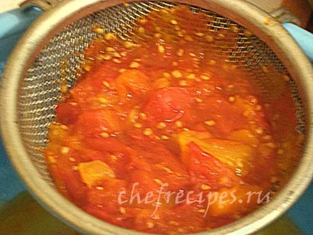 процеженные помидоры