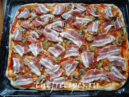 начинка для пиццы с беконом