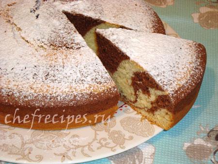 Пирог «Зебра» – простой рецепт