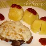 свинина в духовке с сыром моцарелла