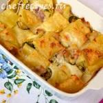 макароны запеченные с сыром и беконом