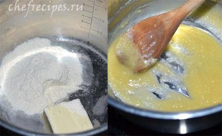 приготовление соуса бешамель