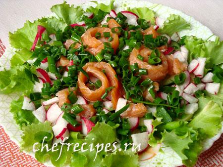 Салат с лососем рецепт для праздника