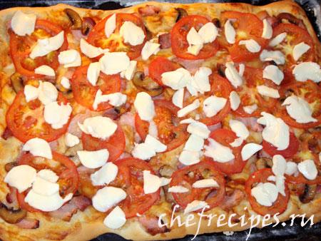 сыр на пицце