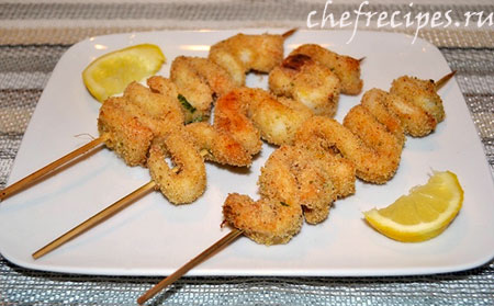 Шашлык из кальмаров: простой рецепт
