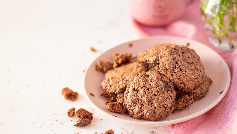 Овсяное печенье с изюмом и какао
