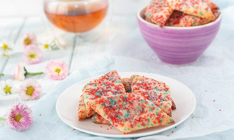 Творожное печенье с сахаром. Мягкое и нежное.